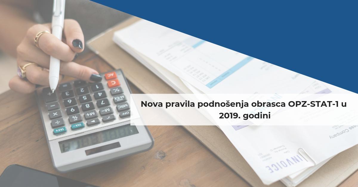 Nova pravila podnošenja obrasca OPZ-STAT-1 u 2019. godini