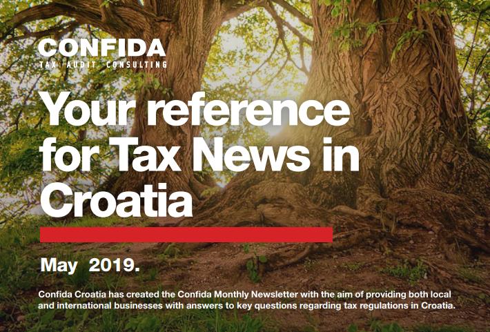 Svibanj 2019: Vaš referent za porezne novosti u Hrvatskoj