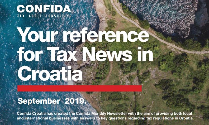 Rujan 2019: Vaš referent za porezne novosti u Hrvatskoj