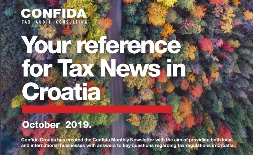 Listopad 2019: Vaš referent za porezne novosti u Hrvatskoj