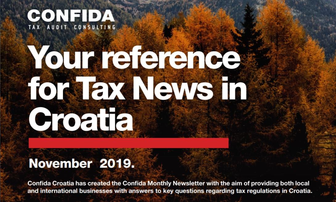 Studeni 2019: Vaš referent za porezne novosti u Hrvatskoj