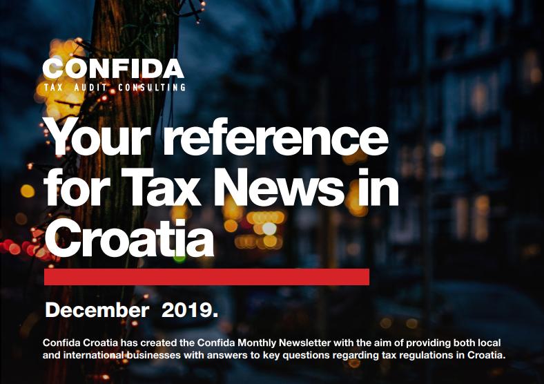 Prosinac 2019: Vaš referent za porezne novosti u Hrvatskoj