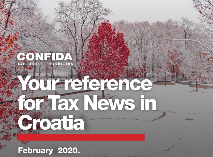 Veljača 2020: Vaš referent za porezne novosti u Hrvatskoj
