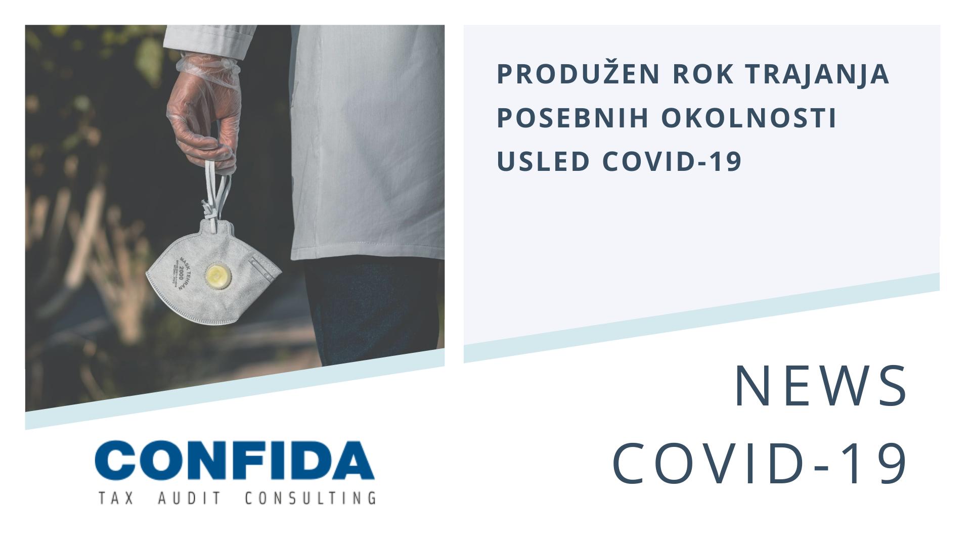 Produžen rok trajanja posebnih okolnosti usled COVID-19
