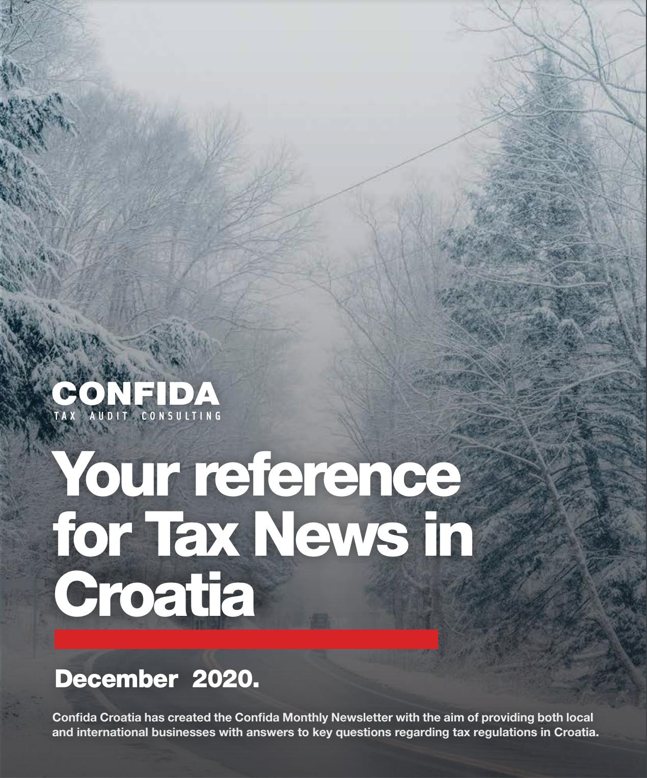 poreske vijesti prosinac 2020