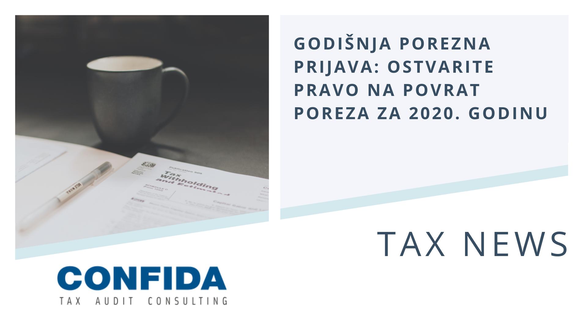 Godišnja porezna prijava 2021