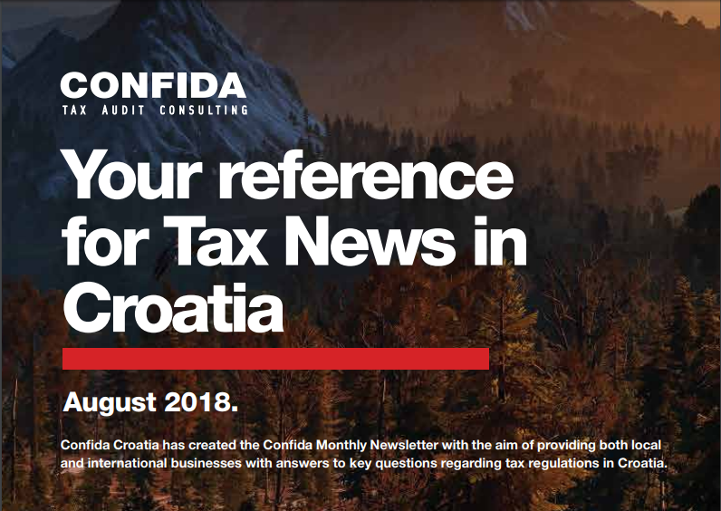August 2018: Your reference for Tax News in Croatia