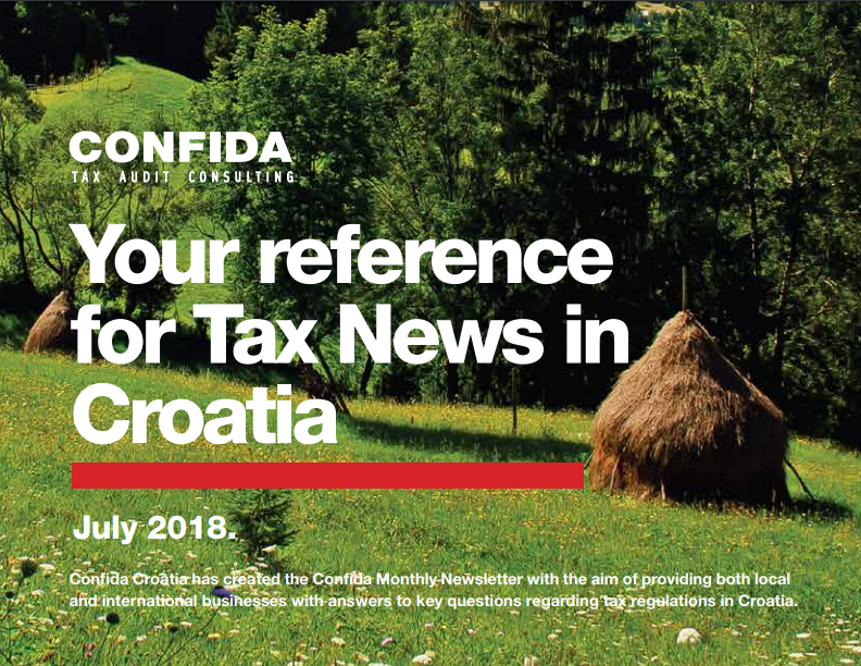 July 2018: Your reference for Tax News in Croatia
