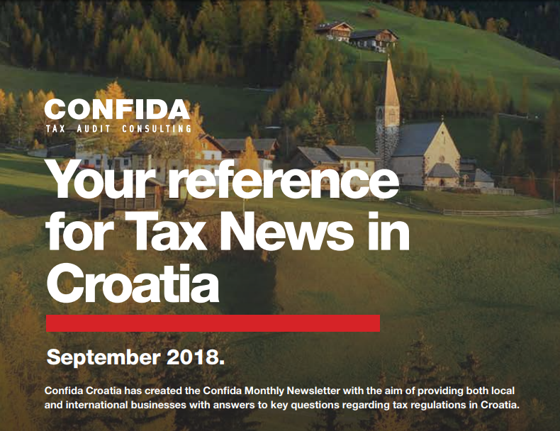 September 2018: Your reference for Tax News in Croatia