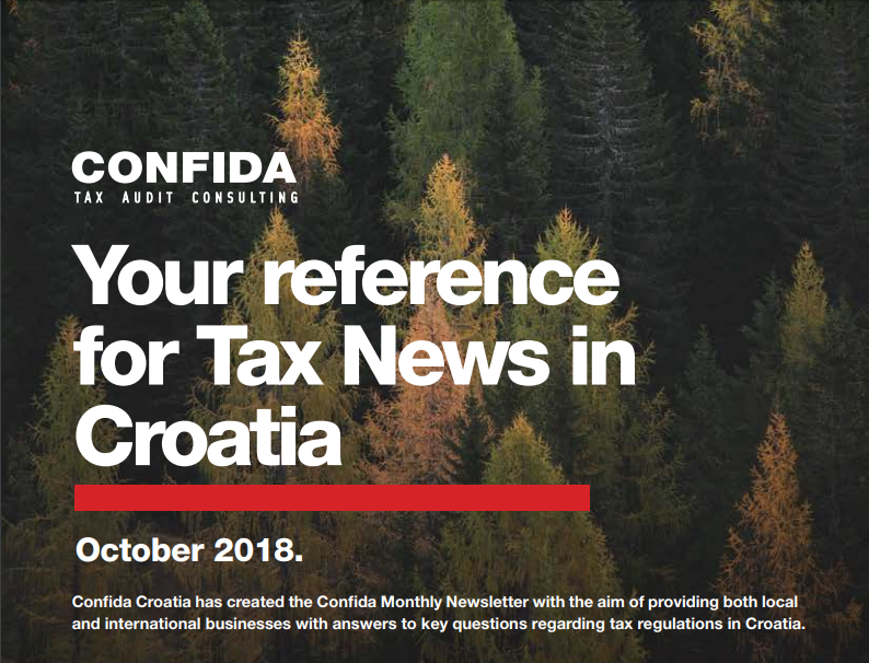 October 2018: Your reference for Tax News in Croatia