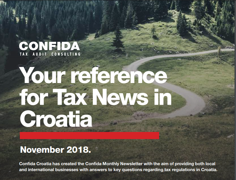 November 2018: Your reference for Tax News in Croatia