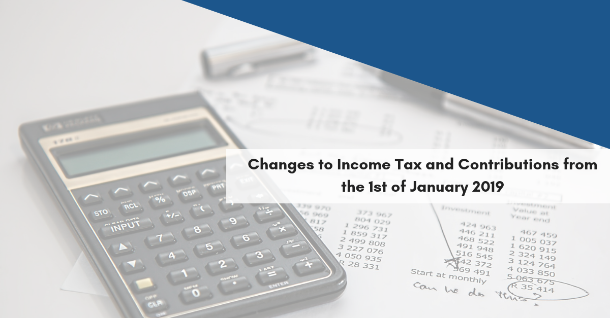 Changes to income tax and contributions from 1st January 2019