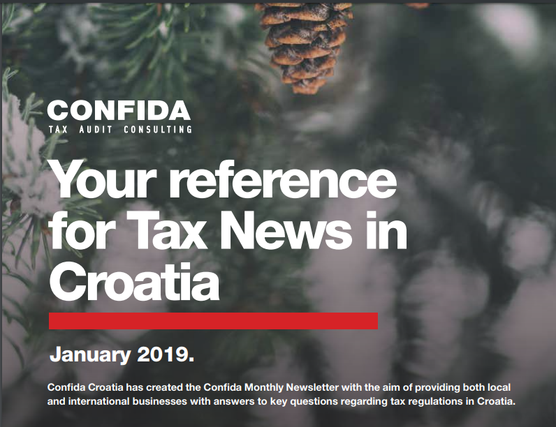 Јаnuary 2019: Your reference for Tax News in Croatia