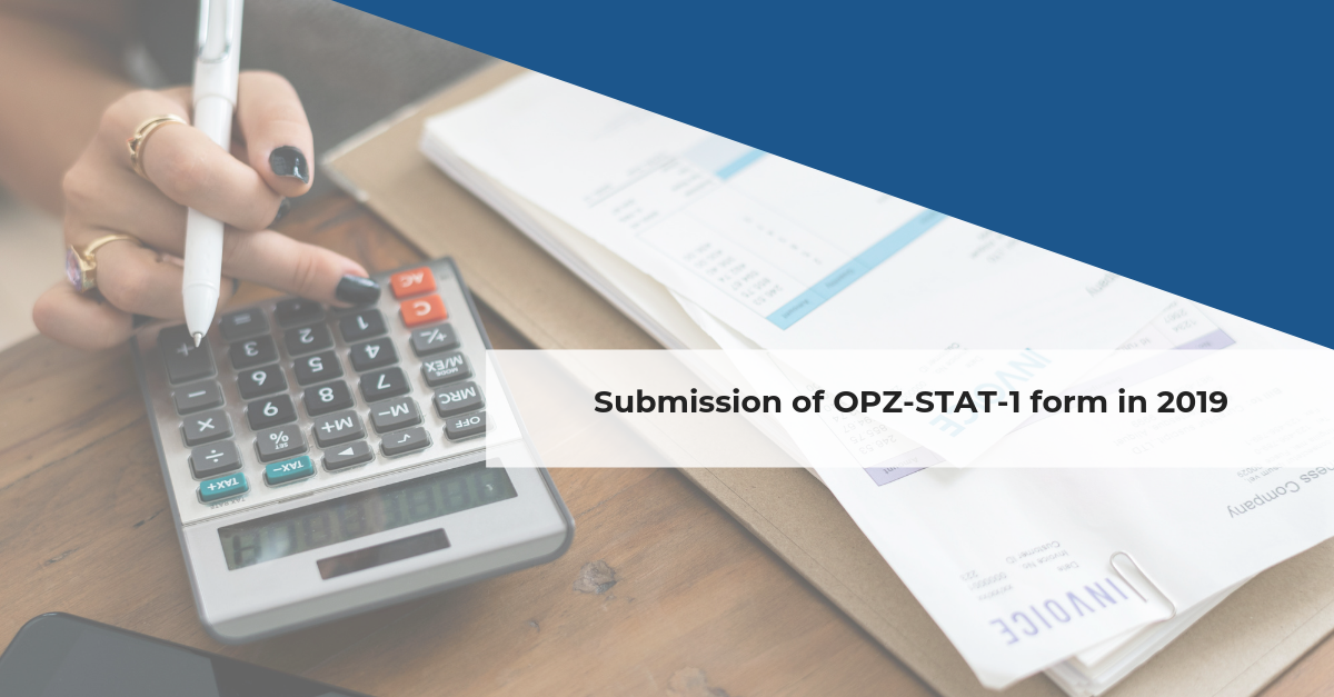 Submission of OPZ-STAT-1 form in 2019