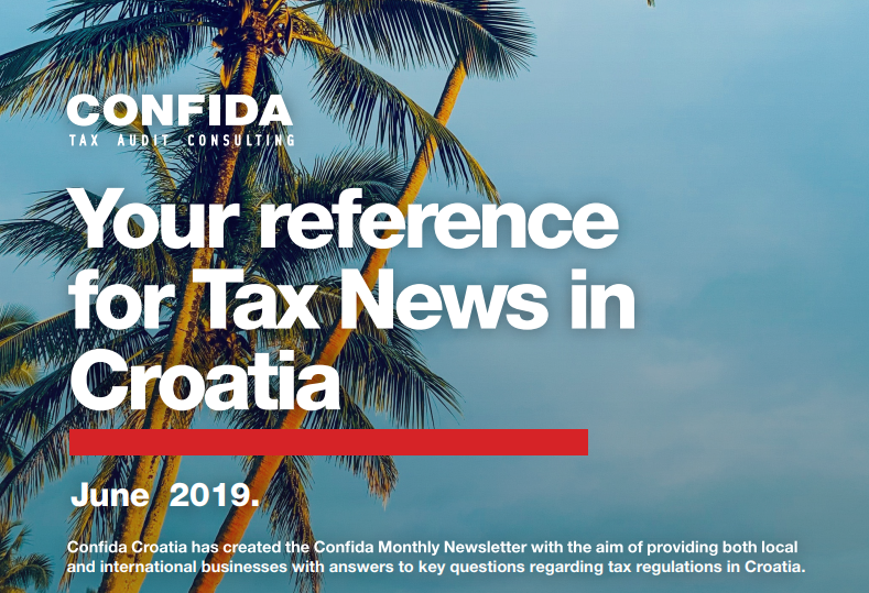 June 2019: Your reference for Tax News in Croatia