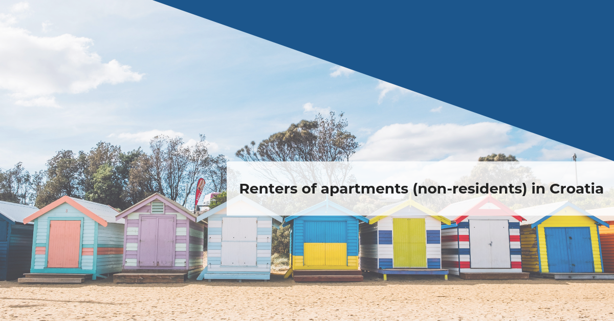 Renters of apartments (non-residents) in Croatia