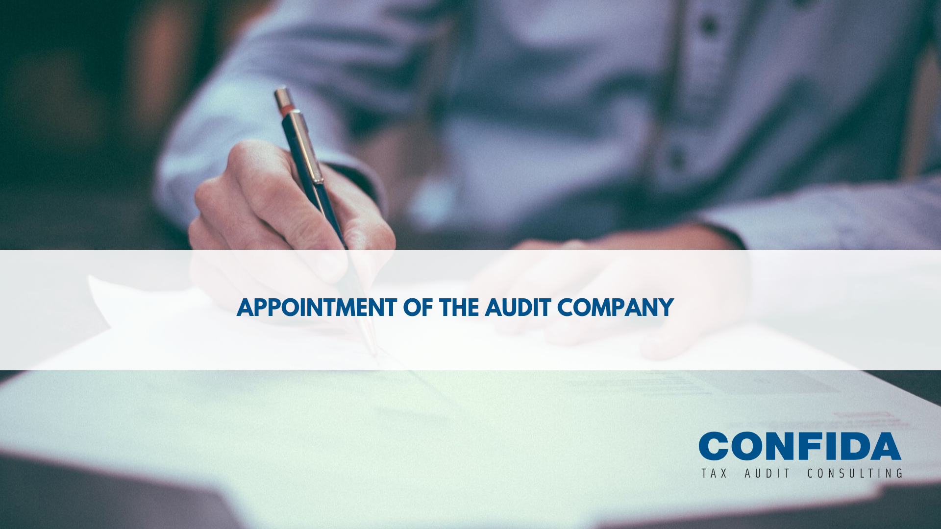 Appointment of the audit company