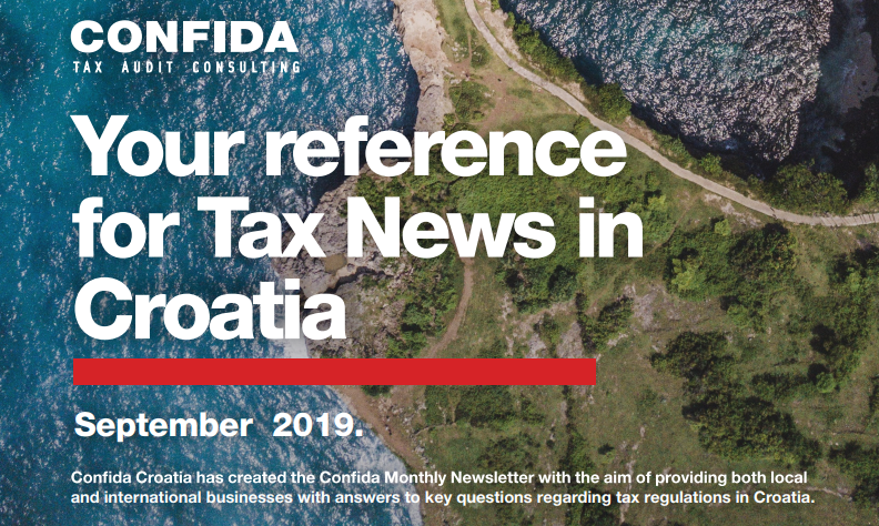 September 2019: Your reference for Tax News in Croatia