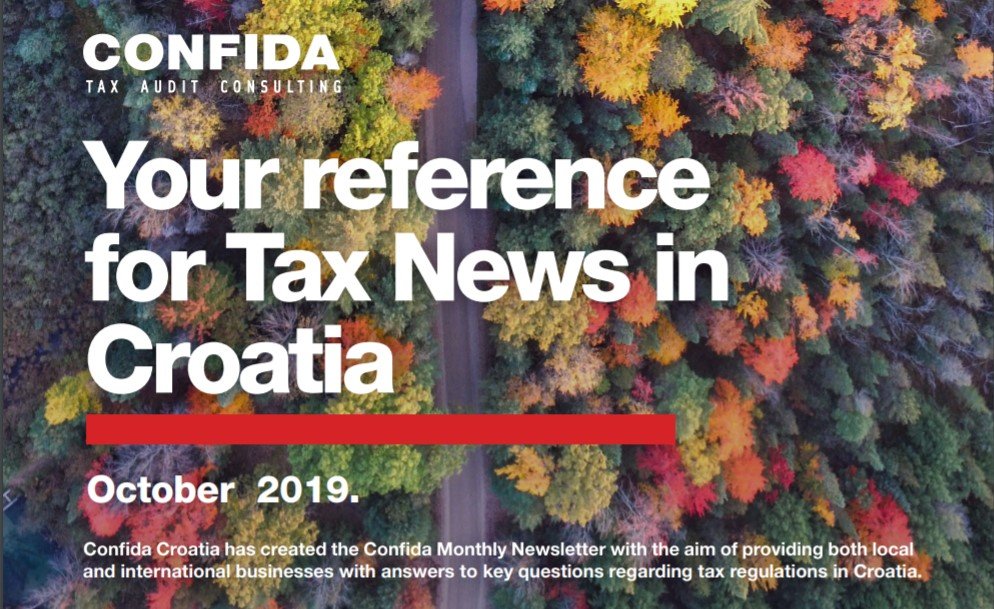 October 2019: Your reference for Tax News in Croatia