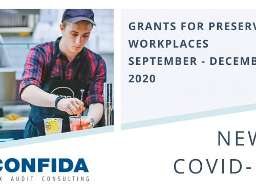 Grants for preserving workplaces: September – December 202