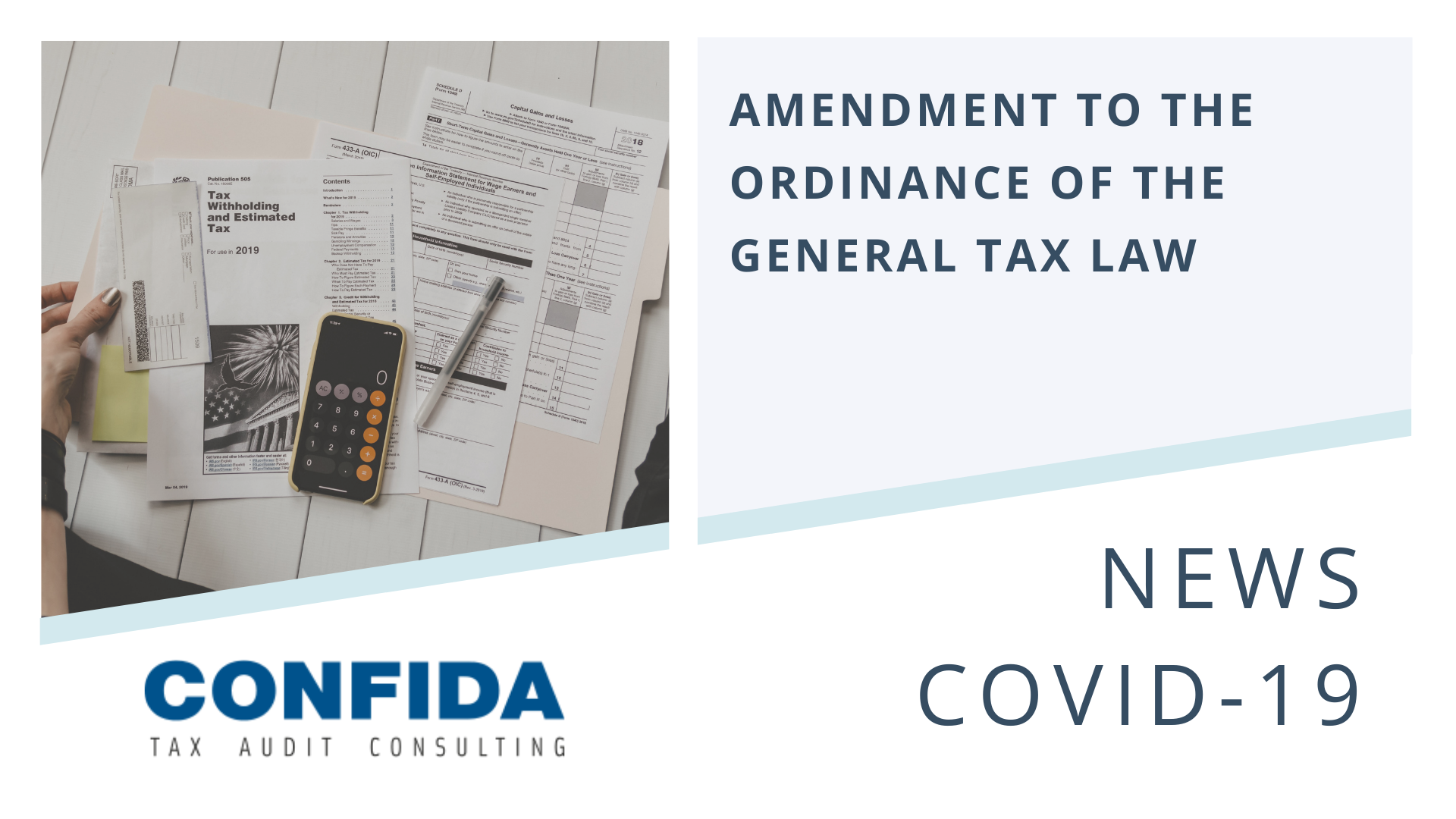 Amendment to the Ordinance of the General Tax Law