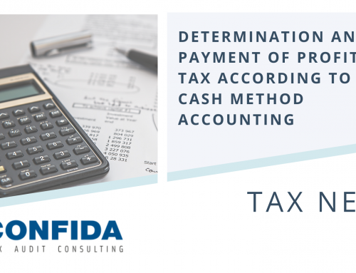 Determination and Payment of Profit Tax According to Cash Method Accounting
