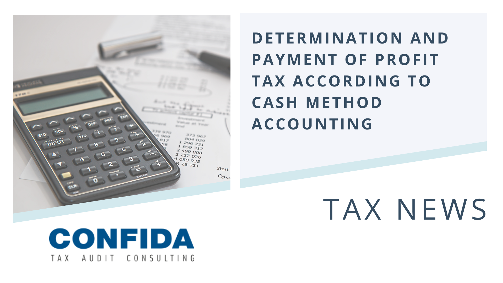 Determination and Payment of Profit Tax