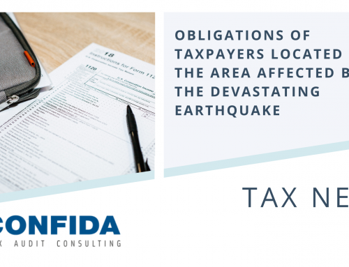 Obligations of Taxpayers located in the area affected by the devastating earthquake