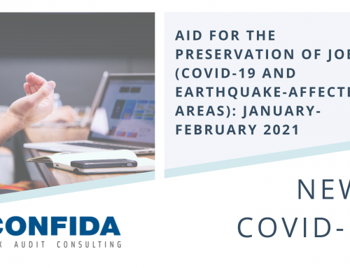 Aid for the preservation of jobs (COVID-19 and earthquake-affected areas): January-February 2021