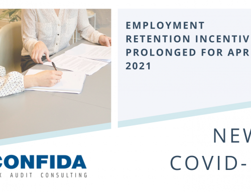 Employment Retention Incentives Prolonged for April 2021