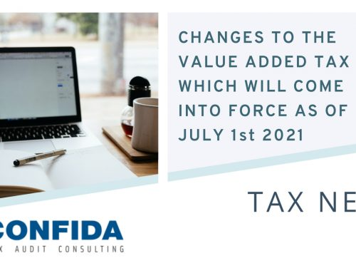 Changes to the value added Tax Act, which will come into force as of July 1st 2021