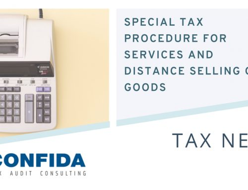 Special taxation procedure for services and distance selling of goods