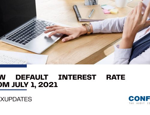 New default interest rate from July 1, 2021