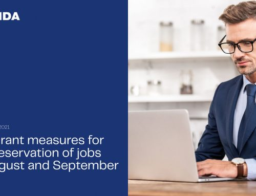 New grant measures for the preservation of jobs for August and September